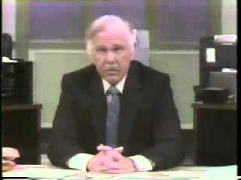 Johnny Carson Plays Walter Cronkite