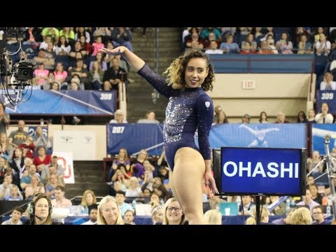 Katelyn Ohashi scores 9.950 in her final floor routine for UCLA at the NCAA Championships
