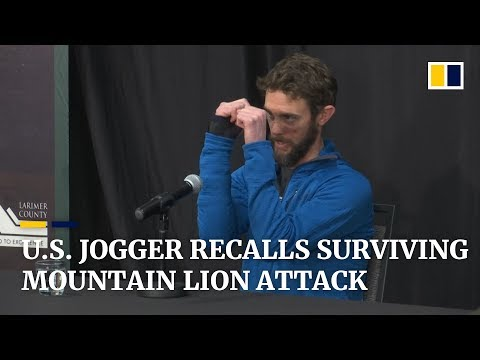 US jogger Travis Kauffman describes life-or-death struggle with mountain lion