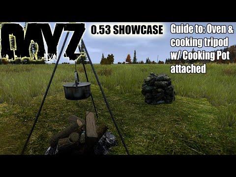 DayZ Standalone: 0.53 Showcase; Guide to making Oven & Using Cooking Tripod w/ Fireplace (DayZ SA)