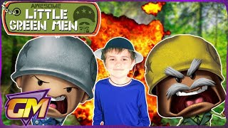 Awesome Little Green Men Toys - Fun Kids Parody -  (Family Channel)