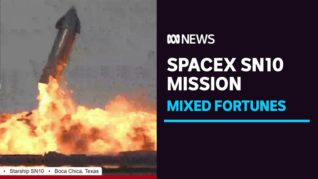 SpaceX Starship SN10 prototype sticks landing, then explodes
