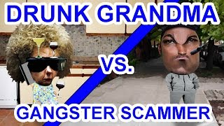 Trolling Scammers: Drunk Grandma Vs. Fake Police Gangster - The Hoax Hotel