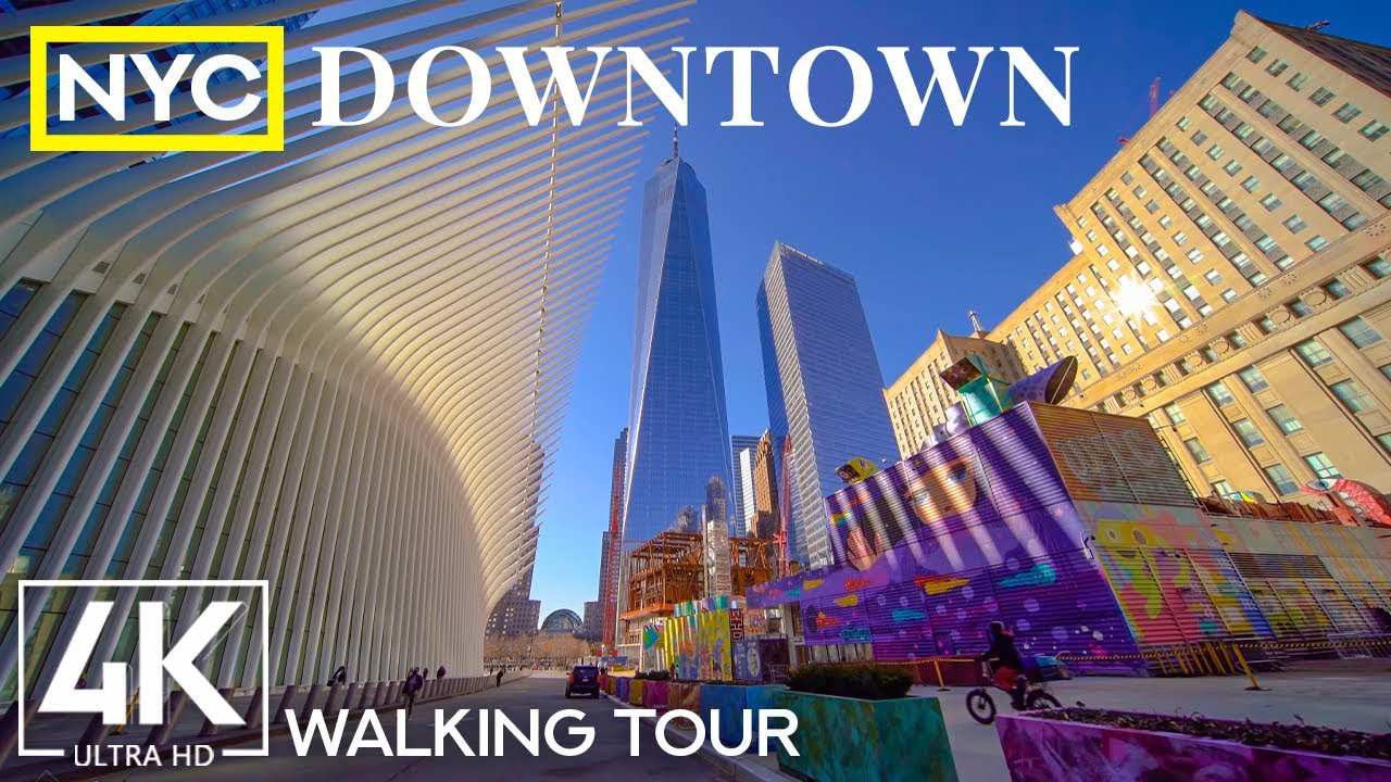 4K Walking Tour through the Largest US City - Walking through Downtown New York + Real City Sounds
