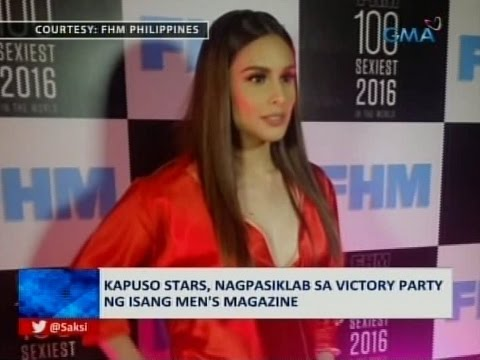 Saksi: Kapuso stars, dumalo sa 2016 FHM 100 sexiest women in the world victory party