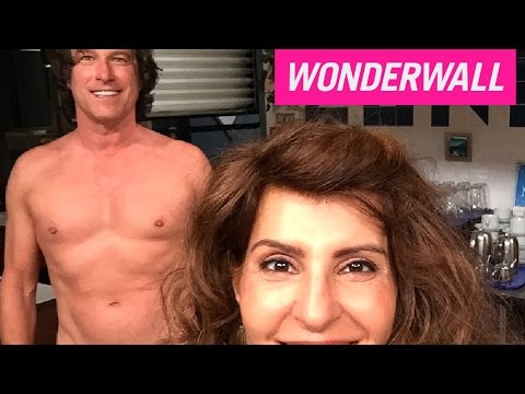 John Corbett's supersexy shirtless selfie with Nia Vardalos explained