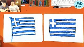 How to draw Flag of Greece
