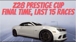 CSR2 prestige cup final time and last 15 races. Camaro z28