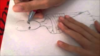 Sinem Moda - Yan Duruş Tasarım Çizimi