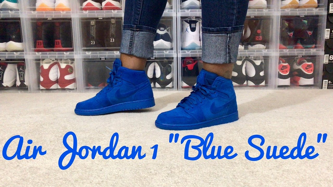 70c0e6f28852 ... germany air jordan retro 1 team royal blue suede men gs review on foot  7c200 b6822