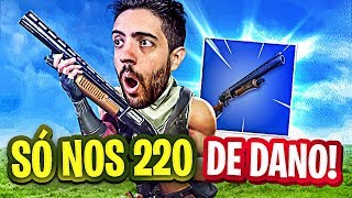 FORTNITE - PUMP SÓ NOS 220 DE DANO! MONSTRÃO