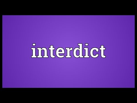 Header of interdict