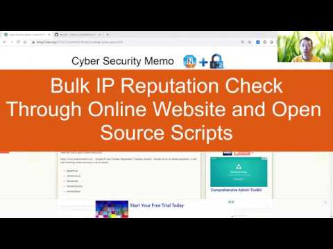 Bulk IP Reputation Check using Security Websites and Open Source Scripts