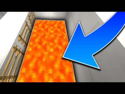LEVITATING OVER LAVA! (Minecraft)