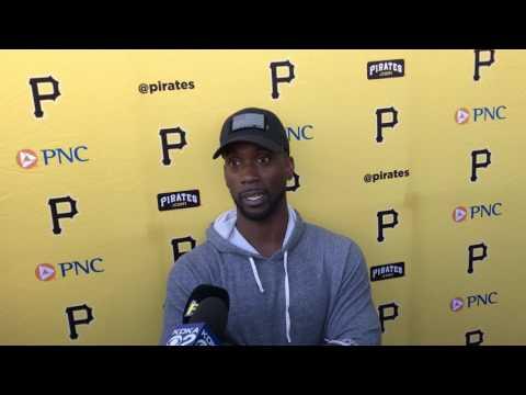 Pittsburgh Pirates Andrew McCutchen Meets Media Spring Training 2017