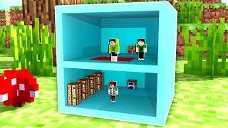 CASA DENTRO DO BLOCO DE DIAMANTE no MINECRAFT ! !