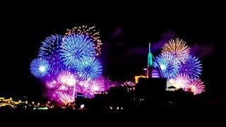 Burj Al Arab Dubai New Year 2014 Fireworks! Breaki