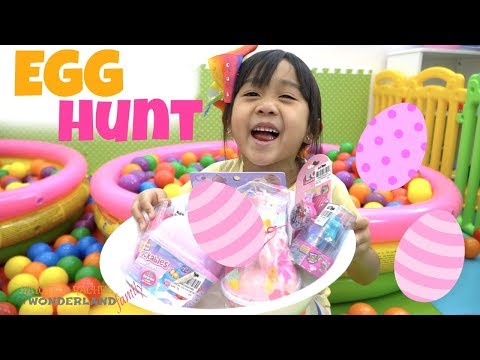GIANT EGG SURPRISE HUNT with KAYCEE & RACHEL