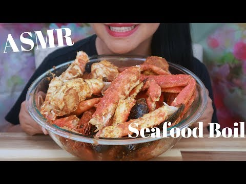 ASMR - The Boiling King Crab Dipped W Bloves Sauce - Request No Lemons, No Ice (No Talking)