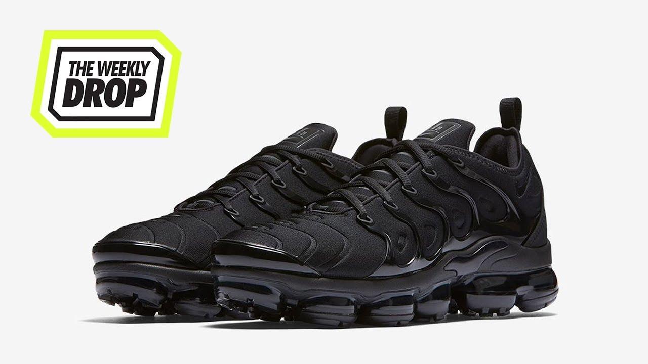 separation shoes ead69 dc122 Nike Vapormax Plus 'Triple Black' Australian Sneaker Release Info: The  Weekly Drop