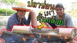 กินปลาช่อนโอบเกลือเผาด้วยต้นกล้วย-คำโอ๊ะๆ-joe-channel