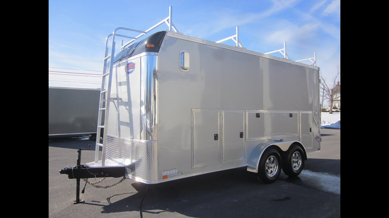7 X 16 10k Contractor Trailer W Tool Storage Cabinets