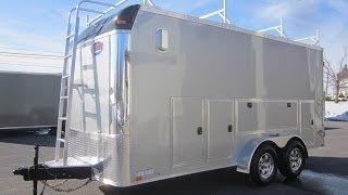 7' X 16' 10K Contractor Trailer w/ Tool Storage Cabinets, Ladder Racks, & 110 Volt Electrical