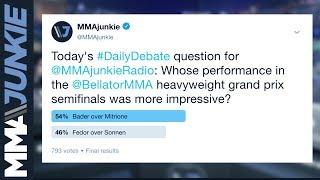 MMAjunkie Radio Daily Debate: Which recent Bellator main event was better?