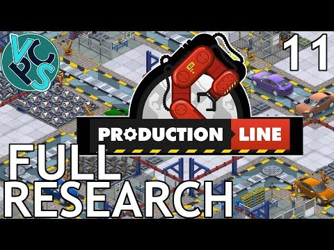 Production Line EP11 - Full Research - Alpha 1.43 Manufacturing Tycoon Gameplay