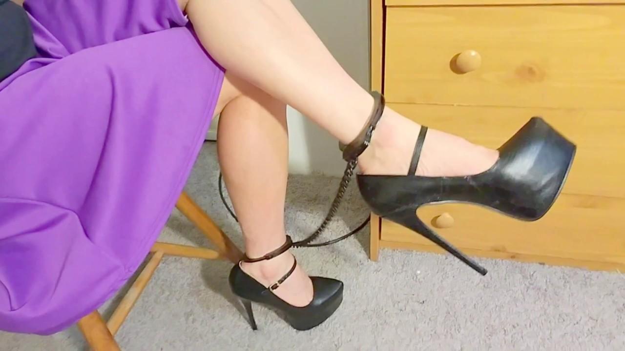 Stainless steel high heels
