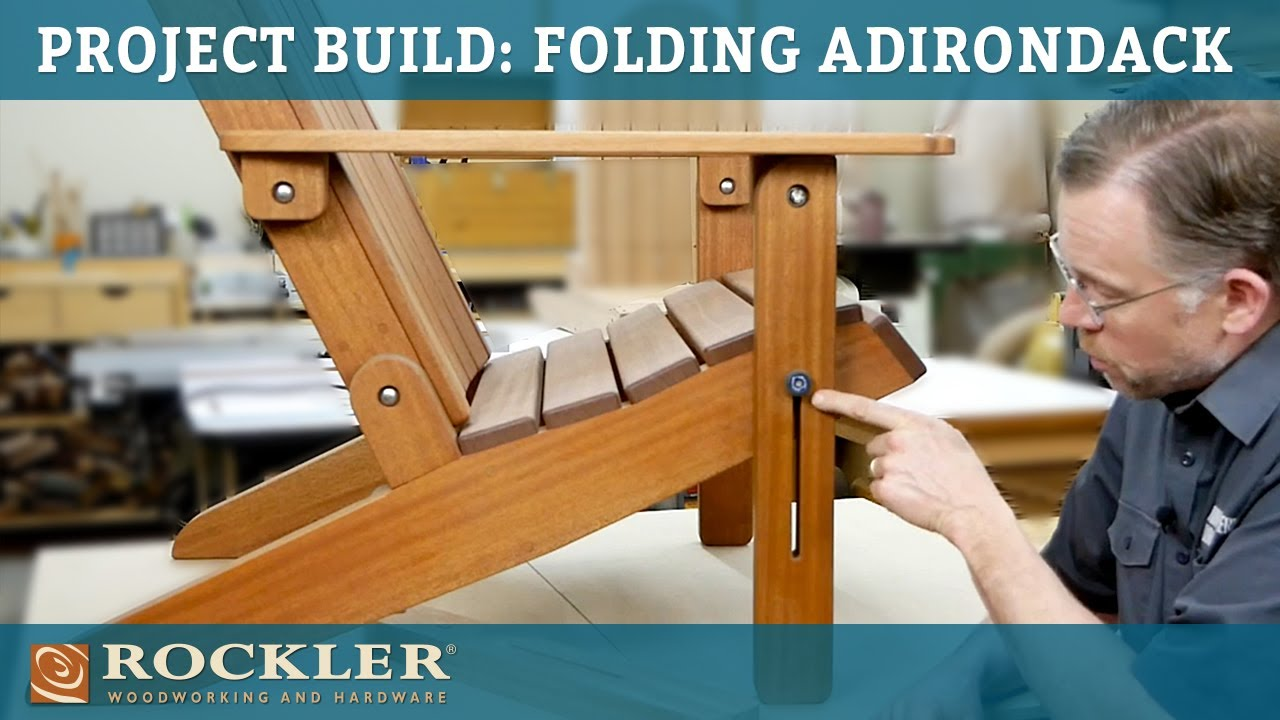Project Build Folding Adirondack Chair