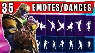 "FORTNITE New ""THANOS"" SKIN Showcased with 35 Dances/Emotes (MARVEL SKIN) 