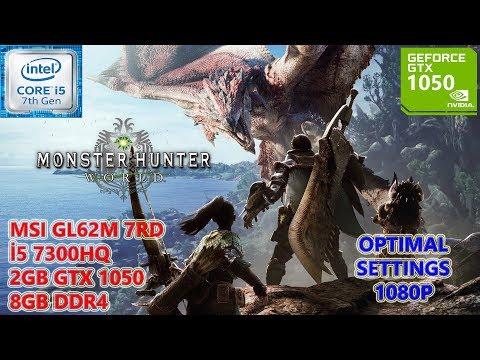 Monster Hunter World i5 7300HQ GTX 1050 8GB RAM Optimal Settings thumbnail