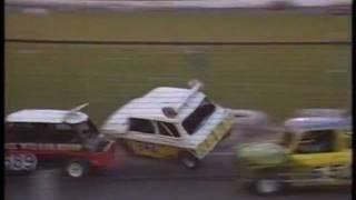 1991 Stock Car Crashes Cowdenbeath Racewall