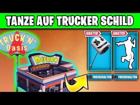 🎁🕺 KOSTENLOSE Spitzhacke - Tanze auf Truckeroase, Eisdiele | Fortnite Showtime Marshmello Deutsch