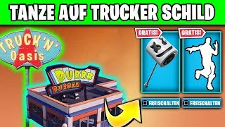 🎁🕺 FREE pickaxe - Dance on Truckeroase, Ice Cream Parlour | Fortnite Showtime Marshmello