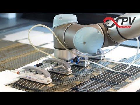 Robotic preparation of OPV organic solar cell school sets