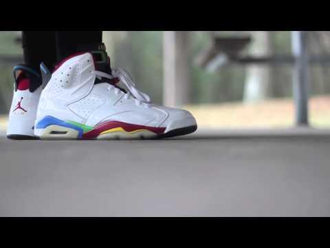 "Air Jordan Retro 6 ""Beijing"" On Foot"