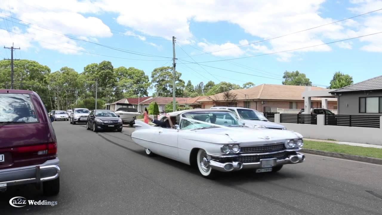 Ace American Convertibles 1959 Cadillac Wedding Car Hire Service In Sydney