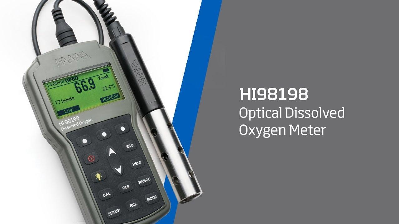 hanna instruments hi98198 optical dissolved oxygen meter youtube