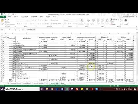 Cara Membuat Laporan Laba Rugi Dalam Excel