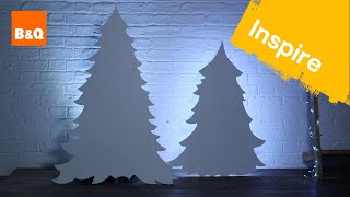 How to make a backlit MDF Christmas tree