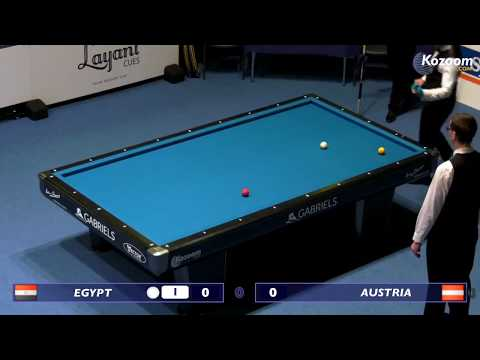 Egyptian team  (SIDHOM Sameh - ABDIN Mohamed)  3-Cushion - Worldchampionship National Teams 2018