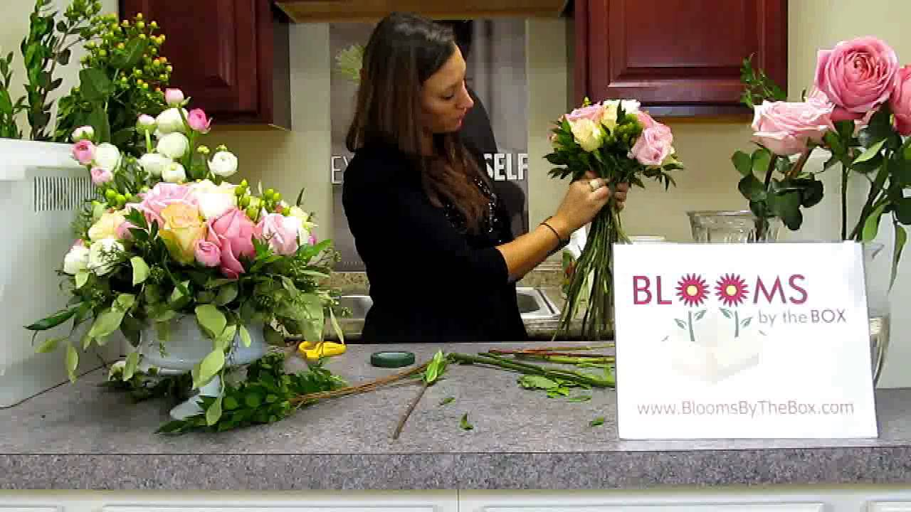 make a ranunculus hydrangea and garden rose bouquet youtube - Garden Rose Bouquet