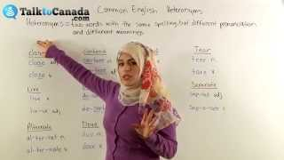 Learn Common English Heteronyms (Words with the Same Spelling but Different Meanings)