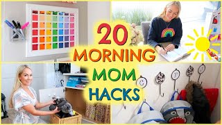20 MORNING MOM HACKS / PRODUCTIVE MORNING ROUTINE TIPS  |  EMILY NORRIS