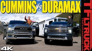 Download Does the 2020 Chevy Silverado HD Duramax CRUSH the Ram Cummins on the World's Toughest Towing Test? Mp3 and Videos