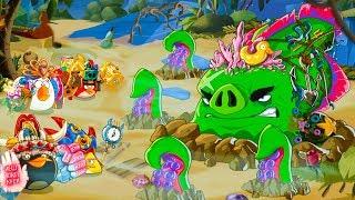 Мультик игра для детей Angry Birds Epic #104 КРАКЕН мировой босс Опасность из пучины  #КРУТИЛКИНЫ