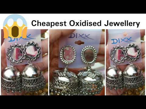 Cheapest Oxidised Jewellery // Black metal Earring // Punjabi Traditional Jewellery