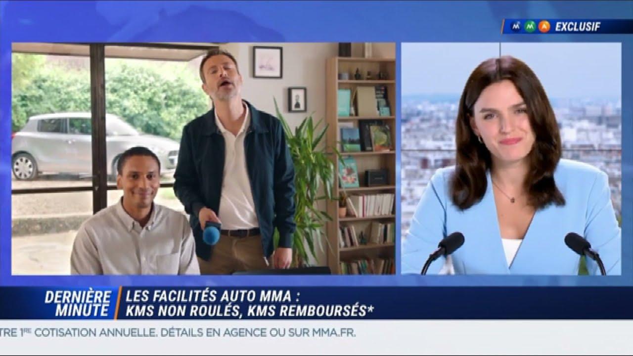 """Musique de la pub MMA – Facilités auto MMA – télétravail """"kms non roulés kms remboursés""""  Septembre 2021"""